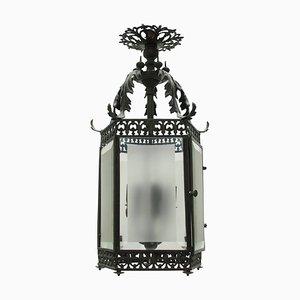 English Bronze Hanging Lantern, 1850s