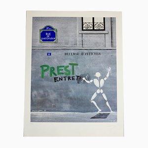 Screen Print by Jérôme Mesnager, 1980s