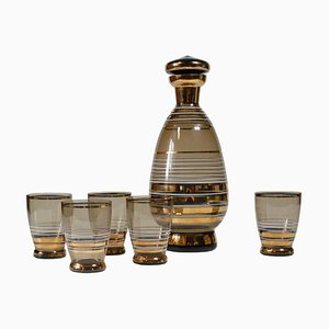 Set with Carafe & Glass from Bohemia, 1950s