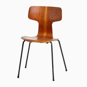 Silla auxiliar modelo 3103 de Arne Jacobsen para Fritz Hansen, años 50