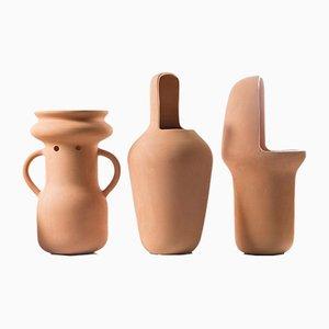 Big Terracotta Gardenias Vases by Jaime Hayon, Set of 3