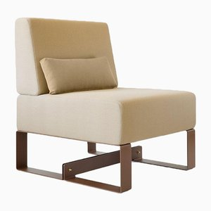 Cubit Brown Easy Chair by Adolfo Abejon