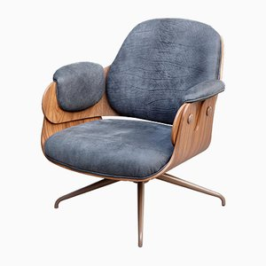 Low Leather Upholstery Armchair by Jaime Hayon