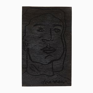 Abstract Portrait of Dora Maar on Wood by Adrian