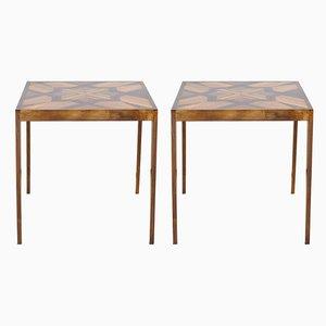 Mesas auxiliares de madera. Juego de 2