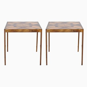 Wooden Side Tables, Set of 2