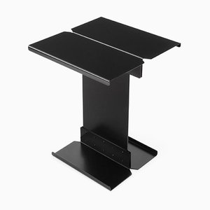 Model Five Black Metal Sculptural Side Table by Adolfo Abejon
