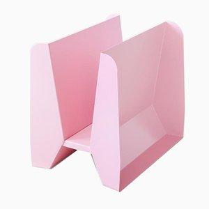 Adler Zeitschriftenständer aus rosa Metall von Adolfo Abejon