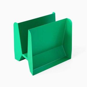 Porte-Revues Adler Sculptural en Métal Vert par Adolfo Abejon