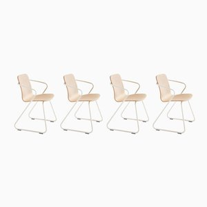 Wood & Metal Sculptural Cobra Chairs by Adolfo Abejon, Set of 4