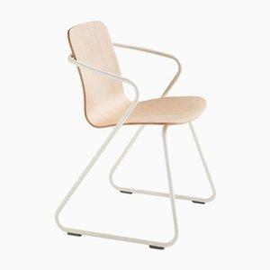 Cobra Esszimmerstühle aus Holz und Metall von Adolfo Abejon, 8er Set