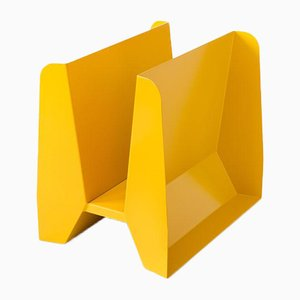 Adler Yellow Metal Magazine Rack by Adolfo Abejon