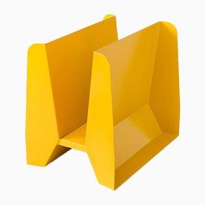 Adler Yellow Metal Magazine Rack by Adolfo Abejon