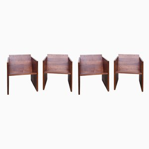 WSS1 Easy Chairs by Jan Paul Folkers, Set of 4