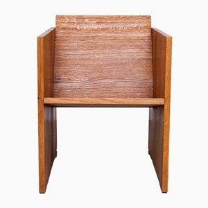 Butaca WSS1 número 12 de madera maciza de Jan Paul Folkers
