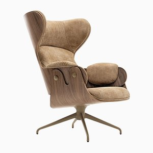 Plywood, Walnut & Leather Armchair by Jaime Hayon
