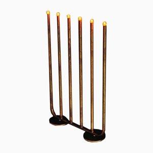 Lampada da tavolo a sei braccia in ottone grezzo di Sabina Grubbeson per Konsthantverk Tyringe
