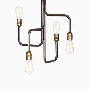 Lámpara de araña Strapatz con óxido negro de Sabina Grubbeson para Konsthantverk Tyringe