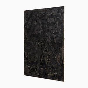 Pintura Mix-Media grande abstracta en negro de Adrian
