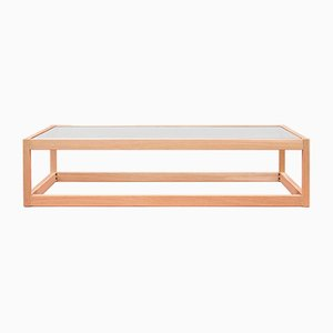 Embassy Kirk T83 Oak & Glass Coffee Table by Peter Ghyczy