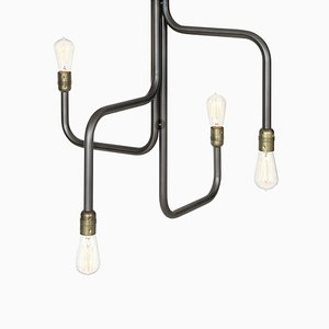 Black Oxide Strapatz Chandelier by Sabina Grubbeson for Konsthantverk Tyringe