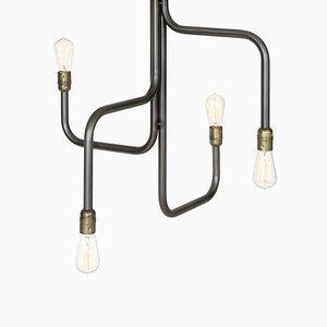 Lámpara de araña Strapatz de óxido negro de Sabina Grubbeson para Konsthantverk Tyringe
