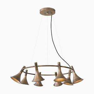 Lámpara colgante Megafon de latón de Jesper Ståhl para Konsthantverk Tyringe