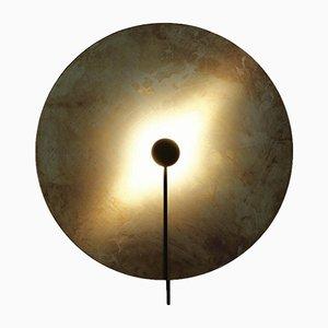 Lampada da parete SOL in ottone di Sami Kallio per Konsthantverk Tyringe