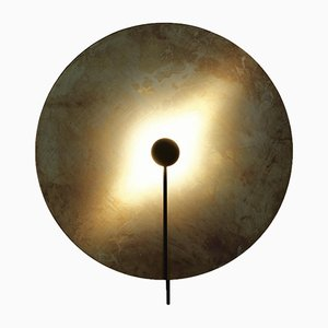 Large Brass SOL Wall Light by Sami Kallio for Konsthantverk Tyringe