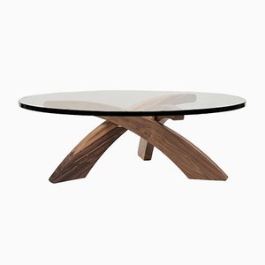 Urban Alpha T88 Oak & Glass Table by Peter Ghyczy