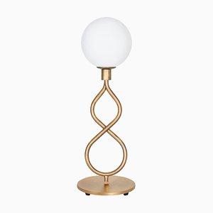 Eld Klot Tischlampe aus Messing von Lisa Hilland für Konsthantverk Tyringe