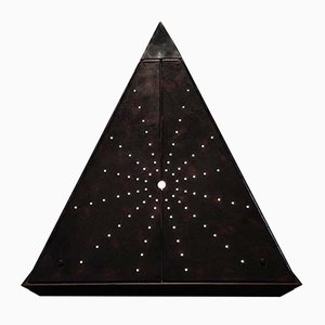 Leather Starry Pyramid Sculpture by Oscar Tusquets