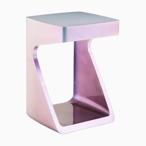 Orion White Side Table by Adolfo Abejon