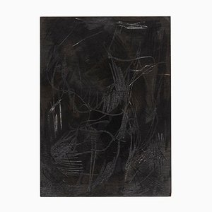 Pintura abstracta sobre madera de Adrian