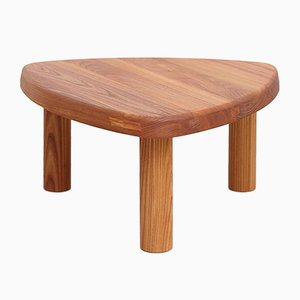 Formalist Solid Elm Wood Model T23 Side Table by Pierre Chapo