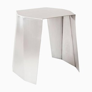 Stainless Steel Katy Side Table by Adolfo Abejon