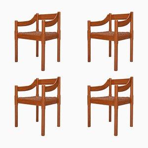 Carimate Stühle aus Kiefernholz von Vico Magistretti für Cassina, 1959, 4er Set