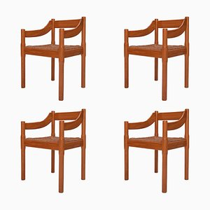Pine Carimate Chairs by Vico Magistretti for Cassina, 1959, Set of 4