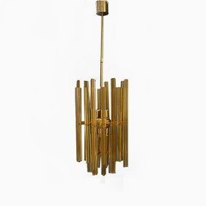Large Italian Chandelier from Venini, 1950s