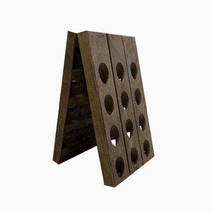 Portabottiglie pieghevole antico