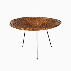 Metal and Rattan Magazine Table from Artimeta, 1950s