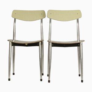 Italienische Stühle von Safil Ancona, 1960er, 2er Set