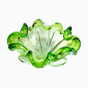 Green Murano Glass Platter, 1960s