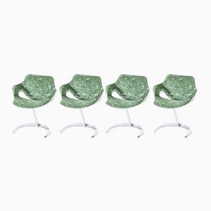 Scimitar Esszimmerstühle von Boris Tabacoff für Mobilier Modulaire Moderne, 1970er, 4er Set
