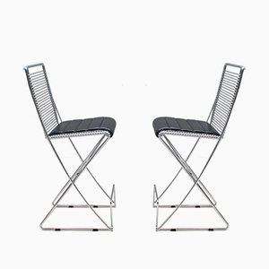 German Kreuzschwinger Side Chairs by Till Behrens for Schlubach, 1980s, Set of 2