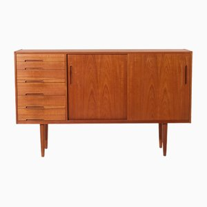 Vintage Teak Florens Highboard by Nils Jonsson for Troeds, 1960s
