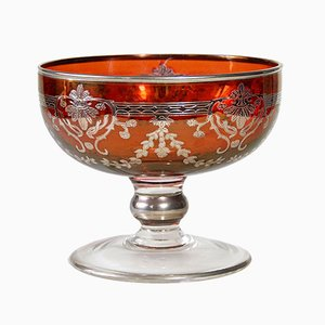Antikes französisches Geschirr aus Glas von St. Louis