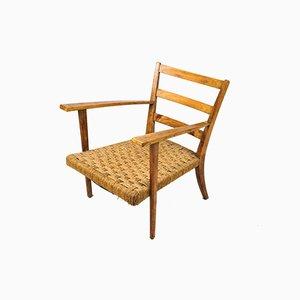 Italienischer Mid-Century Armlehnstuhl aus Eichenholz, 1950er