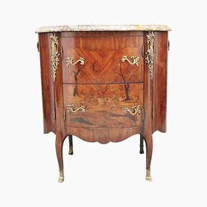 19th-Century French Marquetry Cabinet