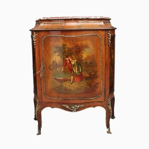 19th-Century French Kingwood and Brass Mounted Cabinet
